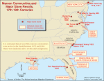 Maroon communities and major slave revolts, 17th-19th centuries