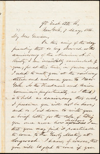 Letter from Oliver Johnson, New York, [N.Y.], to William Lloyd Garrison, 7 May, 1866