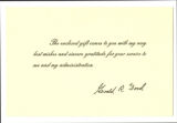 Card from Gerald Ford