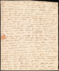 Partial letter from Deborah Weston to Anne Warren Weston, [1839]