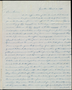 Letter from Amos Farnsworth, Groton, [Mass.], to Anne Warren Weston, April 11, 1840