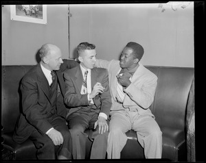 Unidentified athletes, one African-American