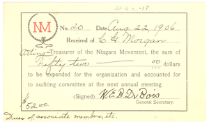 Thumbnail for Niagara Movement Receipt No. 20