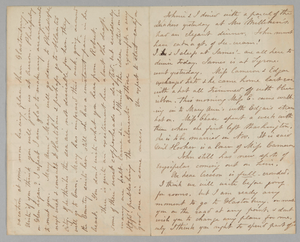 Letter from Mary Jane Hale Welles to Gideon Welles