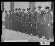 Photograph of first African-American members of the Savannah Police Department, Savannah, Chatham County, Georgia, 1947 May 3