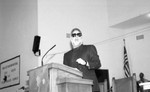 Danny Bakewell Speaking from a Pulpit, Los Angeles, 1991