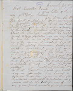 Letter from Joshua H. Robbins, Harwich, [Massachusetts], to Samuel May, [1850] July 25