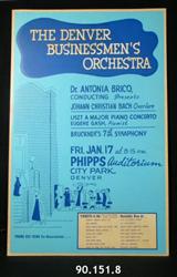 Denver Businessmen's Orchestra Concert poster, January 17, 1964