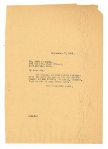 Letter from W. E. B. Du Bois to John G. Smith