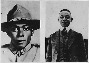 Two American Negroes win Croix De Guerre. These [African American] fighters routed a German raiding...