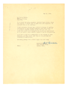 Letter from W. D. Riddle to W. E. B. Du Bois