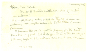 Thumbnail for Letter from W. E. B. Du Bois to Booker T. Washington