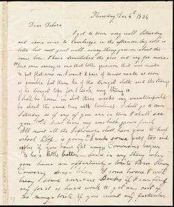 Letter from Hervey Eliphaz Weston, [Cambridge, Mass.], to Deborah Weston, Thursday, Dec. 4th, 1834