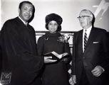 Leon Higginbotham, C. DeLores Tucker, and Mayor James Tate