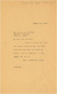 Letter from W. E. B. Du Bois to Alpha Phi Alpha, Alpha Kappa chapter