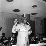 Blues singer Roy Milton, Los Angeles, 1975