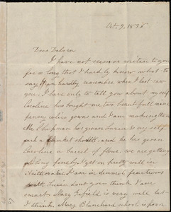Letter from Emma Forbes Weston to Deborah Weston, Oct. 9, 1836