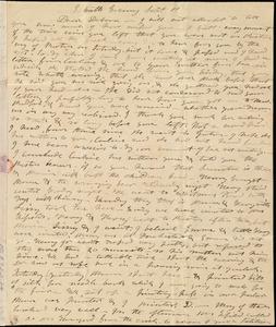Letter from Mary Weston to Deborah Weston, Sab[b]ath Evening, Sept. 11, [1836]