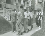 Young men protesting for open housing