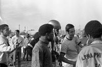 Alpha Phi Alpha Members at Football Game