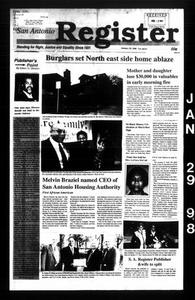 San Antonio Register (San Antonio, Tex.), Vol. 66, No. 33, Ed. 1 Thursday, January 29, 1998 San Antonio Register