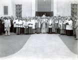 Dedicating Immaculate Heart of Mary Church, LaFayette, Louisiana, 1935