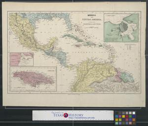 Mexico and Central America to illustrate Harpers Gazetteer.