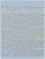 Letter from F. S. Blount, chief agent of impressment, to Captain Charles E. Sherman in Mobile, Alabama.