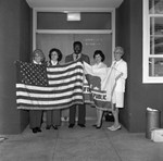 Women and Man with Flags, Los Angeles, 1973