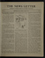 The News Letter (Plymouth Church, Minneapolis, Minnesota) Volume 1, Number 1