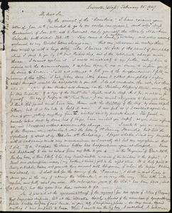 Letter from Samuel May, Leicester, (Mass.), to John Bishop Estlin, February 25, 1847 and Feb. 26th