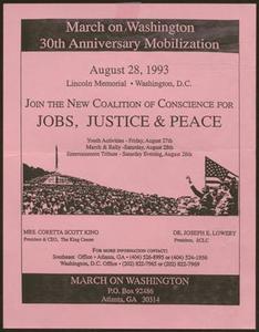 Flyer: March on Washington: 30th Anniversary Mobilization