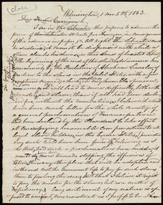 Letter from Thomas Garrett, Wilmington, [Delaware], to William Lloyd Garrison, 1 mo[nth] 5th [day] 1863