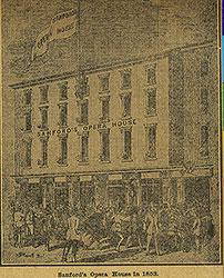 Sanford's Opera House in 1853
