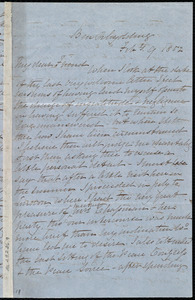 Letter from Elizabeth Pease Nichol, Ben Rhydding, [England], to Anne Warren Weston, Feb'y 9, 1852