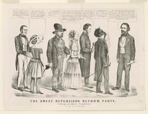 The great Republican Reform Party, calling on their candidate