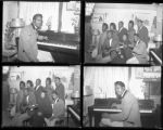 Set of negatives by Clinton Wright including George Holmes, Coluth's birthday, the Winford's housewarming, AM and M Choir, and Curtis Miltonett Singers, 1964