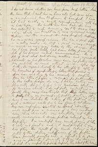Partial letter from Richard Davis Webb, [Dublin, Ireland], to Anne Warren Weston and Caroline Weston, [14 Jan. 1857]
