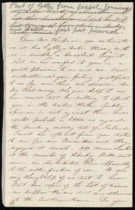 Letter from Isabel Jennings, [Cork?, Ireland], to Maria Weston Chapman, [1847?]