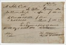 Receipt for payment from John Cocke to William Patterson, October 18, 1851
