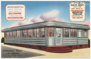Centennial Diner & Bus Terminal, 17-19 No. Arkansas Avenue, Atlantic City, N.J.