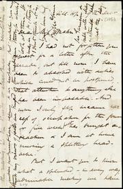 Letter to] Dear Miss Weston [manuscript