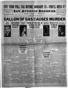 San Antonio Register (San Antonio, Tex.), Vol. 2, No. 43, Ed. 1 Friday, January 27, 1933 San Antonio Register