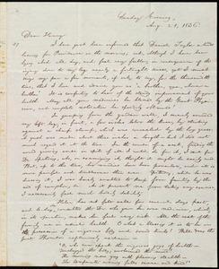 Letter from William Lloyd Garrison, [Brooklyn, Conn.], to Henry Egbert Benson, Sunday Evening, Aug. 21, 1836