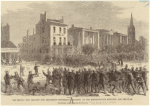 The riot in New Orleans--the Freedmen's procession marching to the Institute--the struggle for the flag