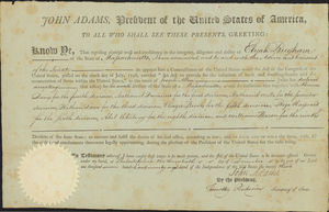 Appointment of Elijah Brigham, 1798 December 4