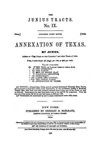 Annexation of Texas. By Junius no. IX