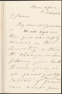 Letter from Harriet Lupton, St. Asaph, [Wales], to William Lloyd Garrison, 17 June [1877]