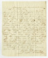 Letter by Joseph A. Wenthey, Greensboro, to Ziba Oakes