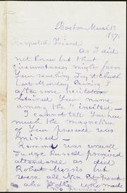 Letter to] Respected Friend [manuscript